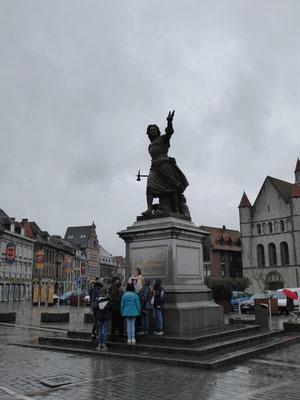 Tournai - La Grand-Place - Maria Christina de Lalaing (1545 - 1582) - 'Overwinning van 1581'