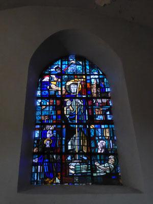 Tournai - Saint Piatkerk - Raam van de Sint-Jozef