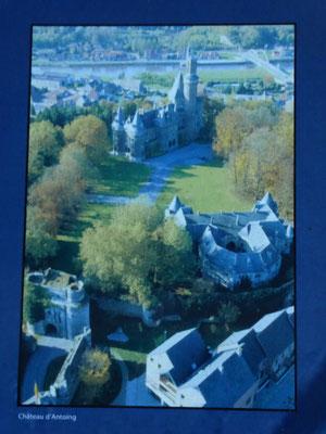 Antoing - overzicht kasteelterrein Antoing - foto van een infobord