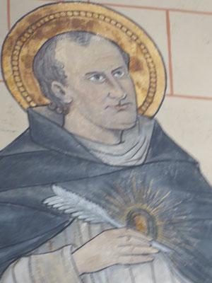 Kerkleraar Thomas van Aquino in de Abdijkerk van Rolduc door schilder Matthias Goebbels.
