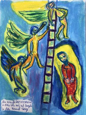 Ein wunderbarer Traum, in dem ich mit Engeln in den Himmel steige