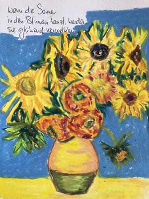 Wenn die Sonne in den Blumen tanzt, werden sie glühend verwelken