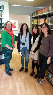 "Monika Zemp, Wendy Kirk (Incoming 2019), Selina Kelsang O'Kerwin (Incoming 2019), Susanne Brügger at the ""bücherraumf"""