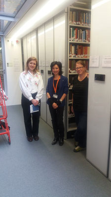 Aimee Burlakova (St. Antony's College Librarian), MariaLuisa Langella (Middle East Centre Librarian), Nina Grossenbacher (Project Manager)
