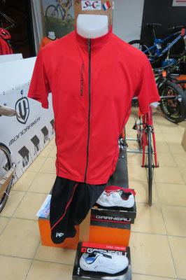 maillot premium zip complet 34€95  cuissard sb  29€95    avec bret   34€95