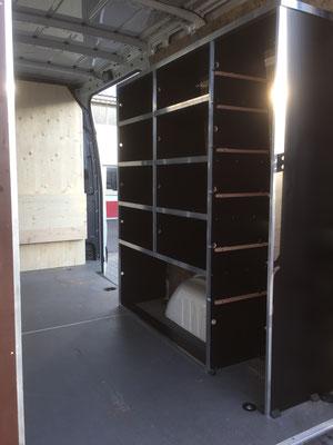 Leichte bauweise Siebdrückplatten mit Aluprofil / Winkelleisten