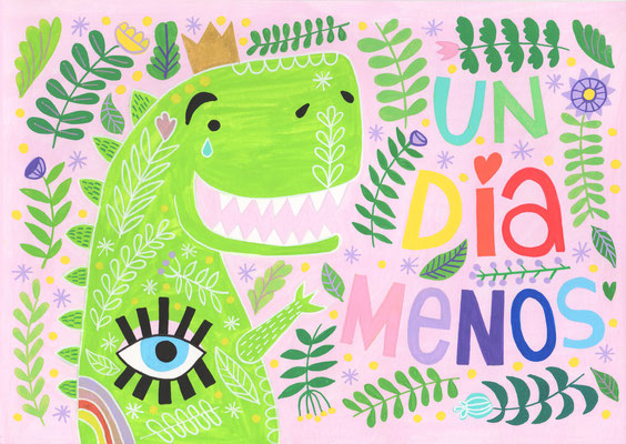 UN DÍA MENOS, gouache sobre papel, 21 x 29,7 cm. Teruel, 2020.