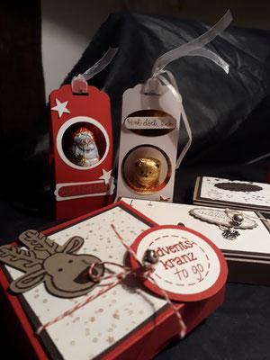 Bastelkurs, Papierbasteln, Advent, Kleine Mitbringsel, Eventhäuschen, Meine Auszeit, Mücke