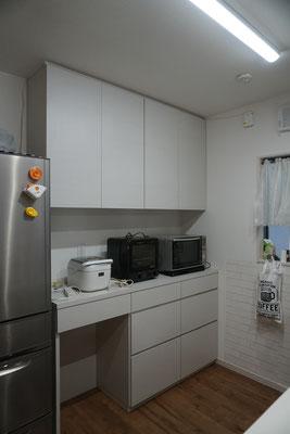キッチン収納 カップボード キッチンボード オーダー家具