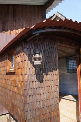 Auch ein restaurierter kleiner Schäferwagen kann besichtigt werden.  (©odenwaldlust)