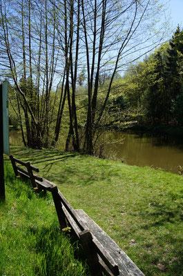 Der Kreiswald-Stausee, klein aber lauschig...