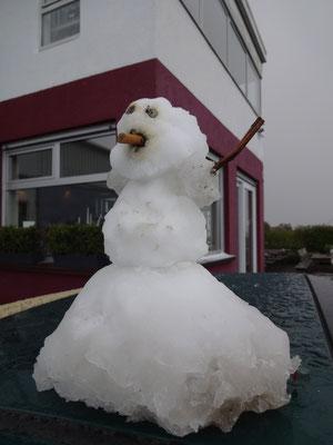 Schneefrau im Winterkleid