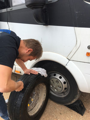 First Time Flat Tire...