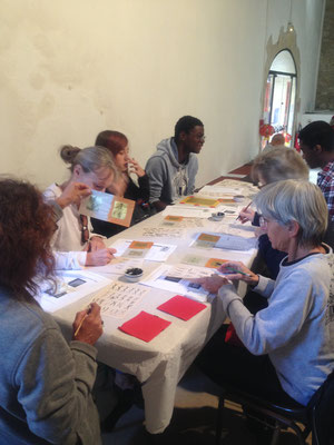 Atelier de calligraphie nüshu