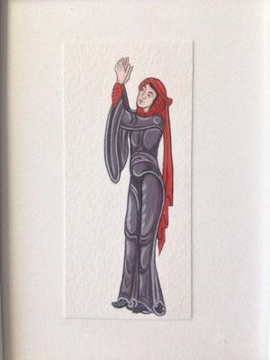 Femme en prière, inspirée de la Bible de Bury