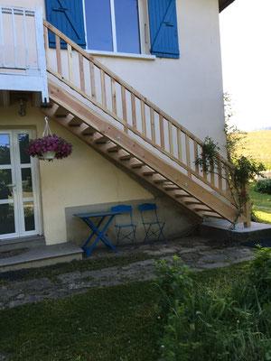 Albertus rénovation d'un escalier extérieur à Gap 05000
