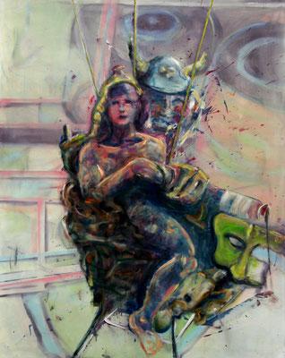 Pathosformel (2013) oil, tempera on canvas 150 x 120 cm
