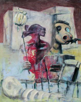 nemontemi (2013) tempera, oil on canvas 150 x 120 cm