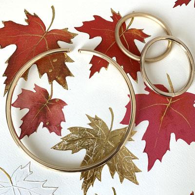 Halsreif Classic silber 6 mm rund hals geformt gold