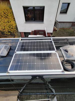 montierte Solarpanels