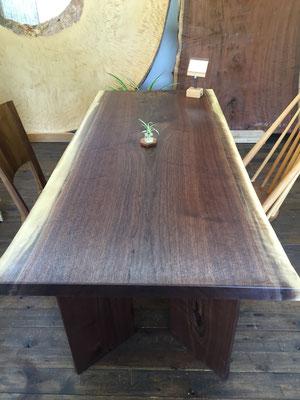 ブラックウォールナット 一枚板 テーブル