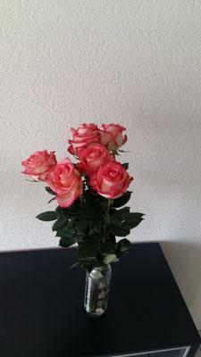 die tolle Rose ha i am Schluss gschänkt becho!
