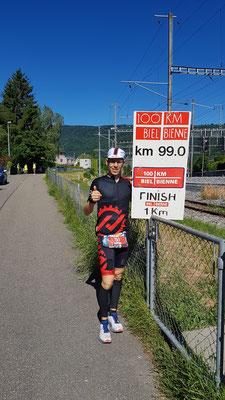 Das obligatorische Bild vom 99km-Schild!
