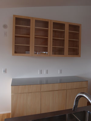 カップボード 食器棚 ステンレス天板
