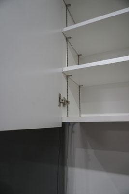 キッチン収納 可動棚 耐震ラッチ
