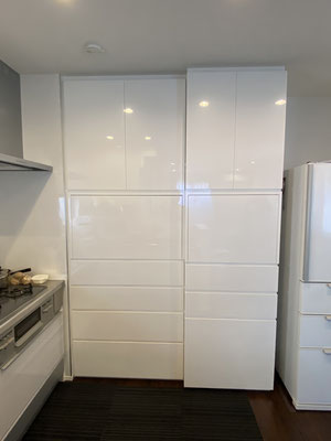 壁面収納 キッチン収納 カップボード