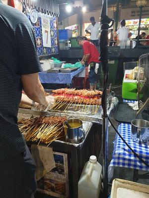Satay Street Singapur