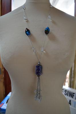 Y-Kette, Modeschmuck Kette mit verschiedenen Glasperlen. Neuwertiger Zustand. Preis: 9,90 €