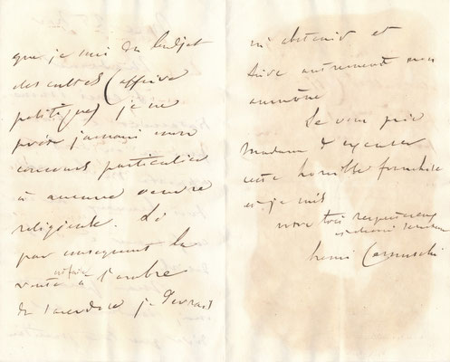 Henri CERNUSCHI lettre autographe signée