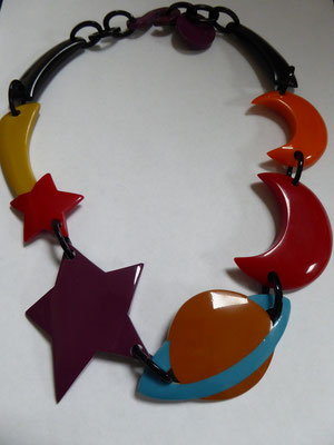 Iconic Marion Godart necklace, moon and stars - €140