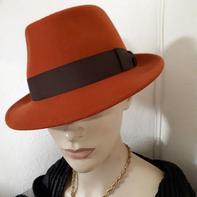Wool felt trilby, €108, also in black.