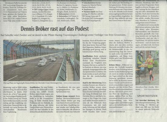 Lippische Landeszeitung Lokalsport Motorsport 2020 rast auf das Podest