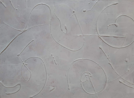 """Tracks under the snow"", tecnica mista su carta, cm. 30 x 40 - € 100"