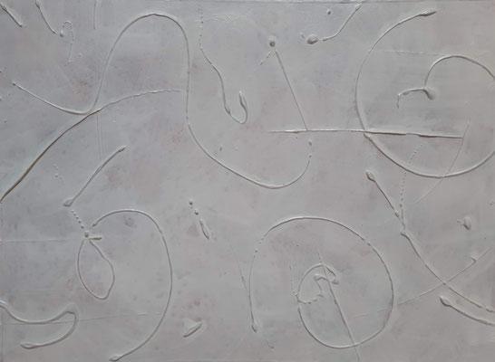 """Tracks under the snow"", tecnica mista su carta, cm. 30 x 40 - € 150"