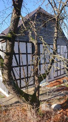 Fachwerkhaus mit sanierter Fachwerkfassade