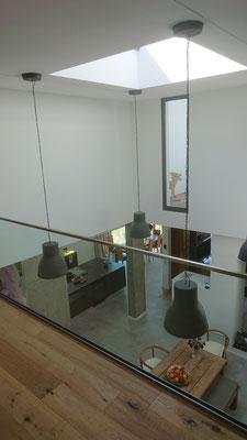 offen wohnen mit Glasgalerie