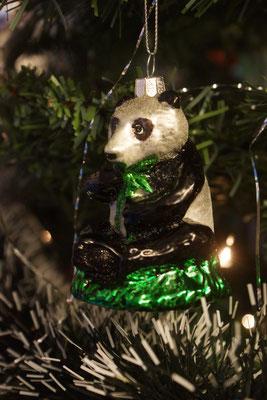 Kung Fu Panda am Weihnachtsbaum in der Jing Wu Kung Fu Schule Köln