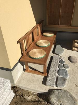 待合ベンチ/八ヶ岳の家具工房ZEROSSOの茶道具