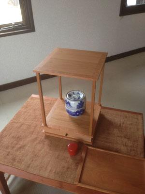 抽斗付きの棚/八ヶ岳の家具工房ZEROSSOの茶道具