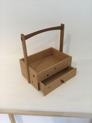オリジナルの煙草盆/タモ。八ヶ岳の家具工房ZEROSSOの創作家具、オリジナルの茶道具、モダンなお仏壇。