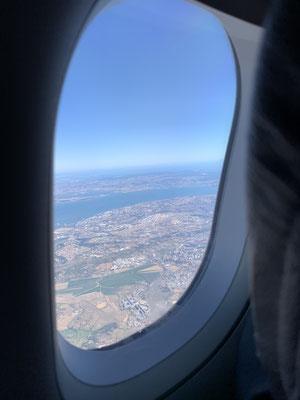 Viel zu schnell ist die Woche wieder vorbei und ich im Anflug auf Lissabon ...