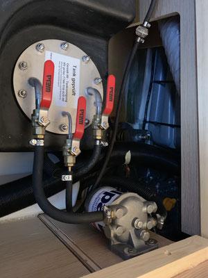 Der vorher relativ schlecht zugängliche Dieselvorfilter ...
