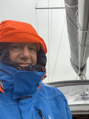 Im kalten und grauen Wetter geht es dann bei gefühlten Minusgraden Richtung Stralsund, wo die zweite Klappbrücke (Ziegelgrabenbrücke) wartet. Also eine Fahrt unter Zeitdruck!
