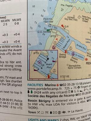 """Zu jedem Hafen gibt es im """"Reeds Almanac"""" die wesentlichen Informationen. Wassertiefe, Position Gästestege, auf welchem Kanal kann/muss der Hafen vorher angefunkt werden usw."""