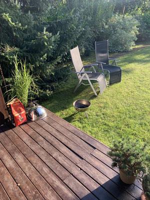 ... zwei entspannte Tage ... dank des schönen Wetters auch wieder eine Runde Grillen ...