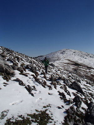 霊仙山山頂を目指します